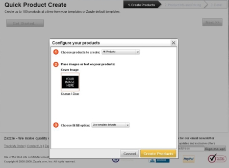 Zazzle Quick Product Create