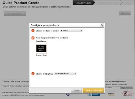 Zazzle Quick Product Create