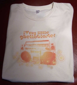 Ghetto Blaster Organic Cotton T-Shirt