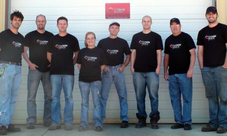 The Shim Shack Crew in their Zazzle Screen Print T-shirts