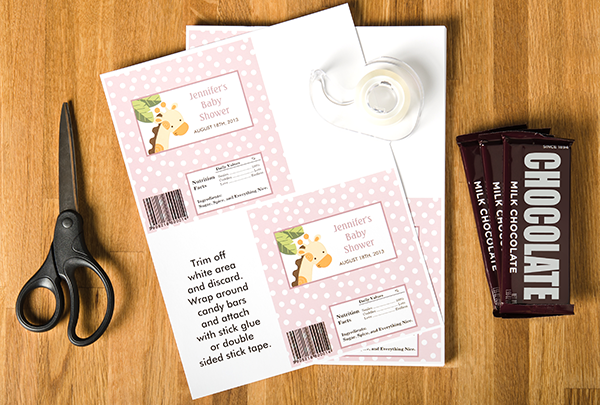 DIY Baby Shower Series: Flyer Candy Bar Wrappers - Zazzle Blog