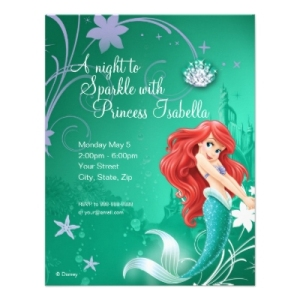 Ariel Birthday Card