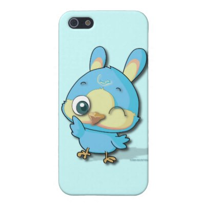 cute_blue_bird_funny_cartoon_character_iphone_case