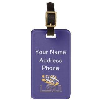 lsu eye of the tiger gold purple luggage tag