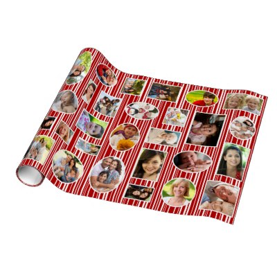 holiday_photo_red_stripes_wrapping_paper