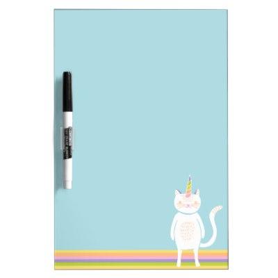 kitty_unicorn_dry_erase_board