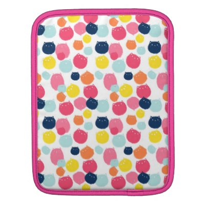 little_kitty_cats_colourful_dots_sleeves_for_ipads