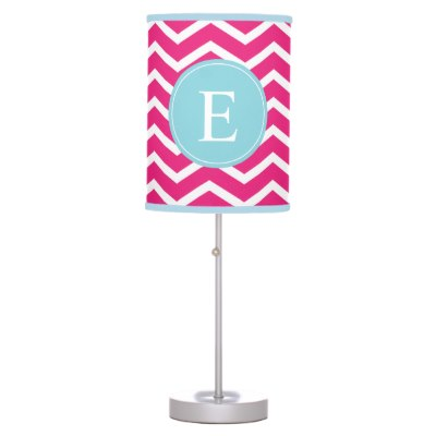 pink_blue_chevron_monogram_lamp