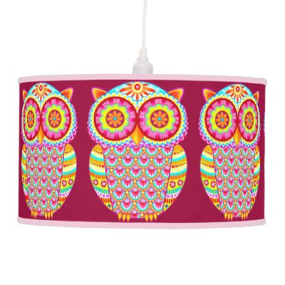 colorful_abstract_owl_hanging_pendant_lamp_retro