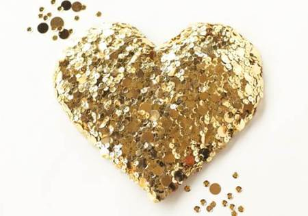 galentine bramble workshop glitter heart
