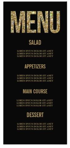galentine glitter menu card