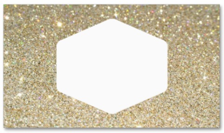 galentine glitter place card business card