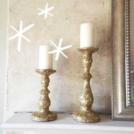 galentine okiegypsy glitter candlesticks