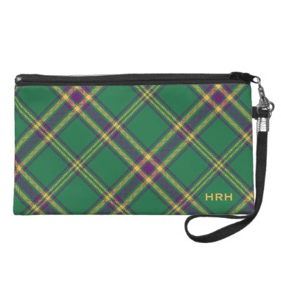 green_purple_gold_tartan_plaid_bag_monogrammed