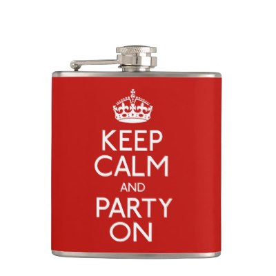 keep_calm_and_party_on_hip_flask