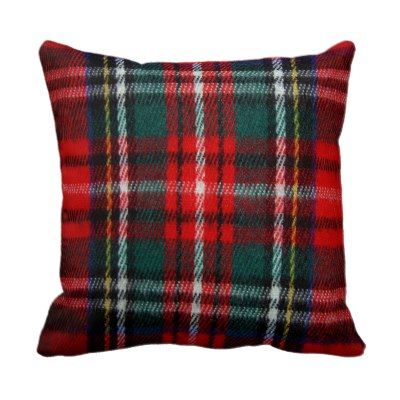realistic_tartan_plaid_texture_throw_pillow