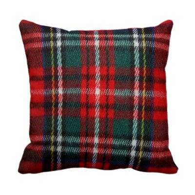 realistic_tartan_plaid_texture_throw_pillow
