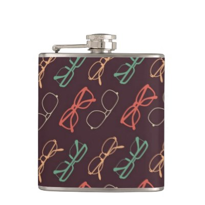 retro_colored_glasses_pattern_hip_flask